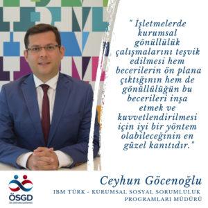 """Ceyhun Göcenoğlu  """"Kurumsal gönüllülük programları değişim yönetimi için bir araç olabilir mi?"""""""