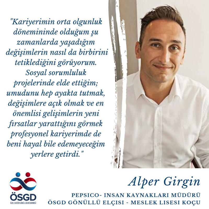 """Alper Girgin """"Anlam dolu bir kariyer: Kurumsal Sosyal Sorumluluk"""""""